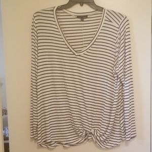 ❤Signature Studio black & white striped knot T 2X